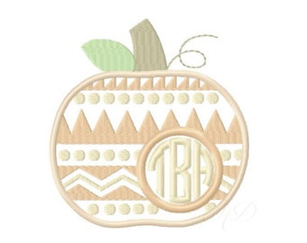 Aztec Pumpkin Applique Embroidery Design Girl Embroidery Fill Stitch Font Instant download BX 4x4 5x7 6x10 PES