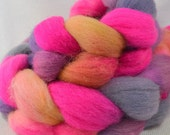 SALE  Hand Dyed Cheviot Combed Top in Cotton Kandinsky Multi Color by Yarn Hollow