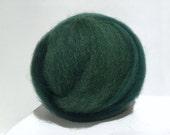 Spruce Needle Felting Spinning Fiber, wool, roving, hand dyed, 1 oz, free samples, Dark Green, Hunter Green, Veridian, Blue Green, Christmas