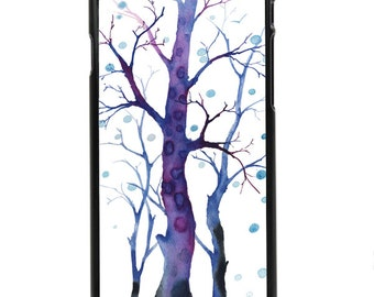 "Phone Case ""February"" - Blue Trees, Winter, Snow, Nature, Wilderness By Olga Cuttell"
