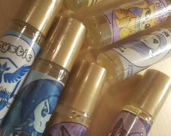 Three Rollerball Perfume: Golden Jojoba Oil and Coconut Oil