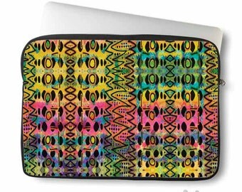 Aztec, Laptop Sleeve, Laptop bag, laptop case, tribal, neoprene, macbook, sleeve, Macbook case, Laptop Cover, Abstract, Art on Laptop case
