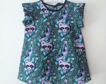 raccoon print tunic dress Supayana ready to ship in all sizes
