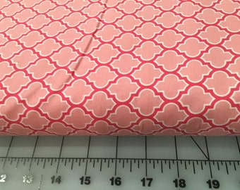 Joel Dewberry Pink Lodge Lattice True Colors Collection Modern Cotton Fabric by the yard from Shereesalchemy