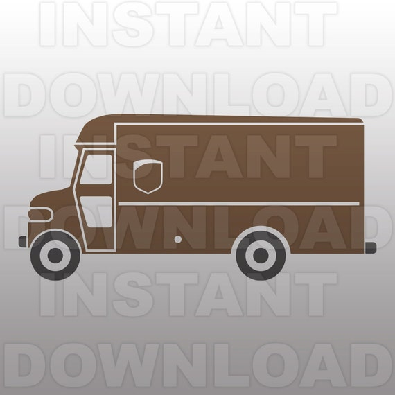 UPS Delivery Truck SVG File UPS Truck svg FileUps Delivery Truck Clipart