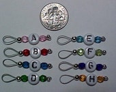 Multi-Colored Letter Stitch Markers For Sock Knitters - US 5  - Item 250