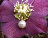 RESERVED... White freshwater pearl, 14k rose goldfill necklace
