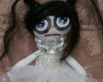 Zombie, Soft Doll, Rag Doll, Handmade Doll, Creepy Doll