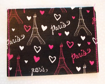 Love Paris  wallet, card holder, comic wallet, paper wallet, thin wallet