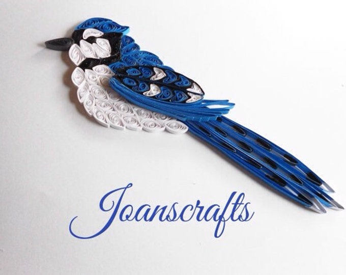 Quilling,  Blue Jay Ornament