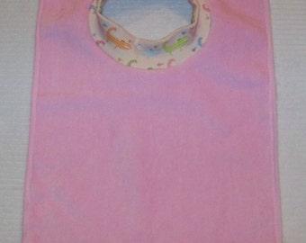 Towel Bib by PETUNIAS - absorbent washable dryable aligators organic knit baby toddler gift