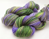 Hocus Pocus, I'm A Crocus - Hand Dyed Yarn dyed to order on a variety of bases including sock yarn, fingering weight yarn, worsted weight