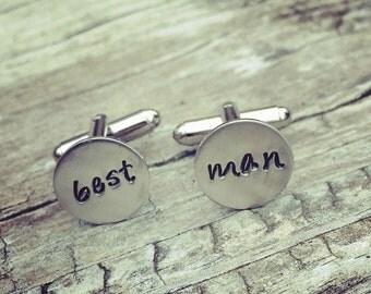 Personalized Wedding Cuff Links Groom Groomsmen Cufflinks Best Man