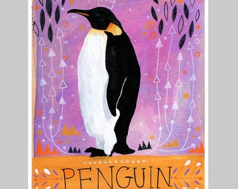 Animal Totem Print - Penguin