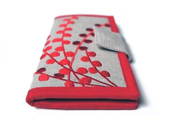 MADE TO ORDER | Womens wallet | Red Wallet | Handmade fabric Wallet | Wallets for women | Made to order | Women's Gift