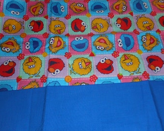 Madies Big Bird and Friends Cotton Fabric  Personalized Pillowcase w/Name