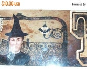 PreHalloweenSale Awesome Altered Art  WITCH  Booklet