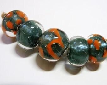 Lampwork Beads AQUA PEARL Two Sisters Designs 070716A