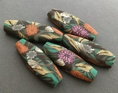 Forest Floral Oblong Bead