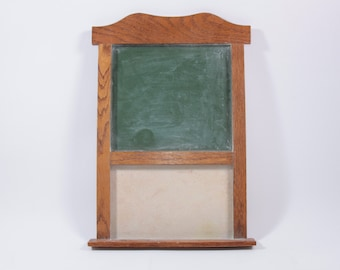 Amazing Vintage Chalkboard Wooden With Peg Board 1940s Classroom Wall Hanging ~ The Pink Room ~ 160907