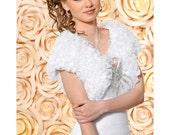 Belle Taffeta Bridal Bolero, Satin Wedding Bolero, Organza Bridal Jacket
