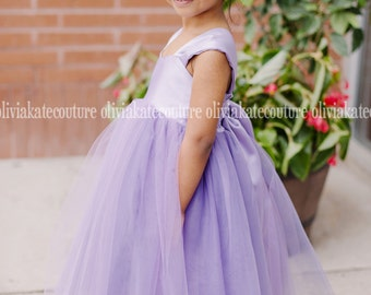Flower Girl Dress Wisteria Light Purple