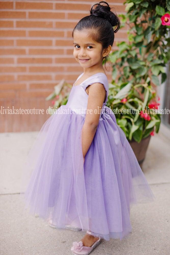 Flower Girl Dress Wisteria Light Purple