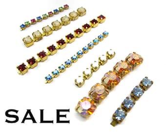 Vintage Swarovski Rhinestone Chain Pieces (20 grams) (S515) SALE - 25% off