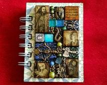 The Hobbit A7 pocket Journal - Mosaic LOTR Lord of the Rings. Gandalf. Bilbo Baggins. Gollum. Sir Ian McKellen. Martin Freeman. Andy Serkis.
