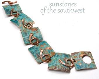 Rustic Link Cuff Bracelet B1830