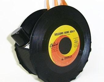 Vinyl Record Storage Container Office Desk Accessories Napkin Holder 45 rpm