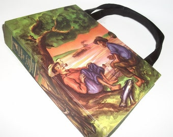 Book Purse Vintage Huckleberry Finn Mark Twain Book Handbag Upcycled Book Bag Vintage Trendy Purse