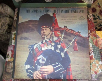 Vintage Record Album The Scots Guards Hi-Fi In The Highlands 1955 Angel Records Near Mint! #35464