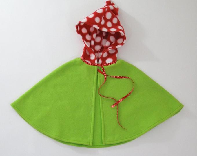 Woodland Gnome Cape, Baby Cape, Toddler Cape, Girls Cape, Boys Cape, Halloween Costume, Gnome Cape, Elf Cape, Pixie Cape, Newborn to 9/10