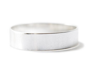 4mm sterling flat band - silver stacking minimal ring - simple plain band - low profile ring - everyday jewelry - minimal jewelry - Luca 4mm