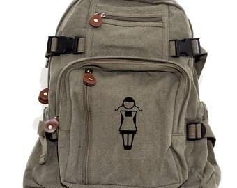 Backpacks, Canvas Backpack, Girl Silhouette, Rucksack, Small Backpack, Lightweight Backpack, Kawaii, Mr & Mrs, Travel Bag, Women's Backpack