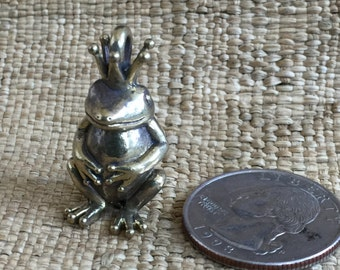Solid Brass Frog Prince Pendant