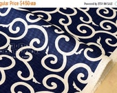 Japanese Fabric Karakusa dobby - navy blue - 50cm