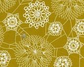 Cotton + Steel Spellbound - doily web mustard - 50cm