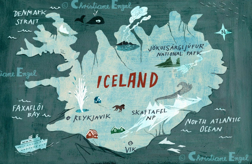 Unforgettable image with regard to printable iceland map