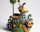 Miniature  Fairy Whimsy Cottage House OOAK by C. Rohal