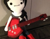 Rag doll Marceline the Vampire Queen and her Bass Axe
