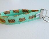 Cats With Glasses Key Fob For Mew