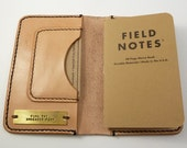 Field Notes Leather Notebook, Travelers Notebook, Passport Cover, Blank Book, Leather Journal Cover, Hand Stitched Vegetable Tan Leather