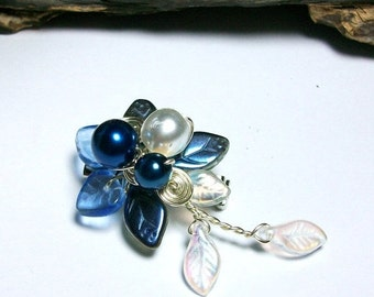 ON SALE Blue Fairy Brooch Boutonniere Hair Pin - Single or Set - Mix and Match