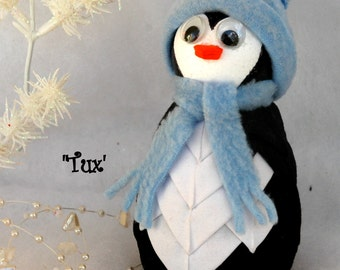 Penguin Quilted Fabric Ornament - Tux