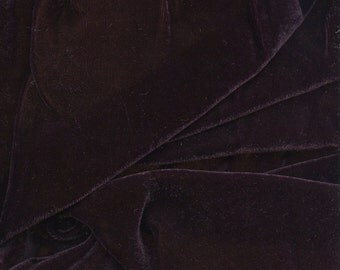 Beautiful Silk Velvet Fabric Violette