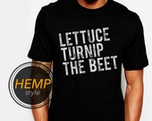 2 colors ORGANIC lettuce turnip the beet ® trademark brand OFFICIAL SITE - black hemp and organic cotton shirt with distressed logo