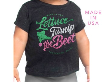 lettuce turnip the beet ® trademark brand OFFICIAL SITE - dark grey track shirt with logo - infant sizes