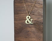 Ampersand Small Brass Silhouette Necklace